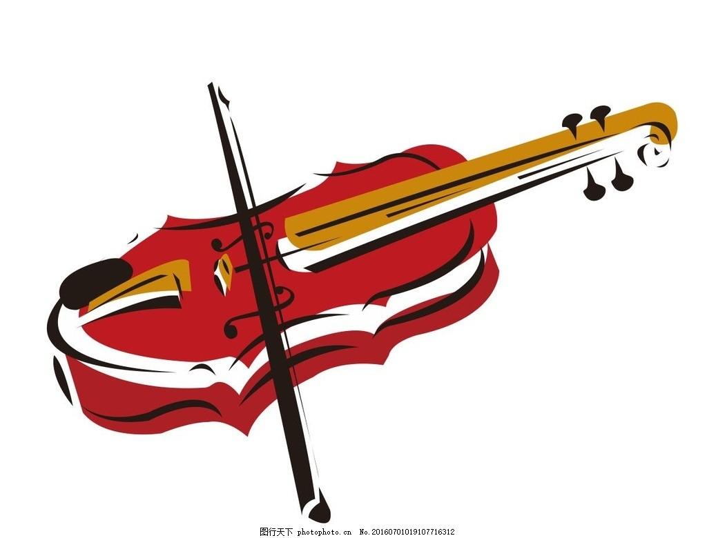 小提琴 西洋乐器 音乐 演奏器具 简笔画 线条 线描 简画 黑白画-音乐盒