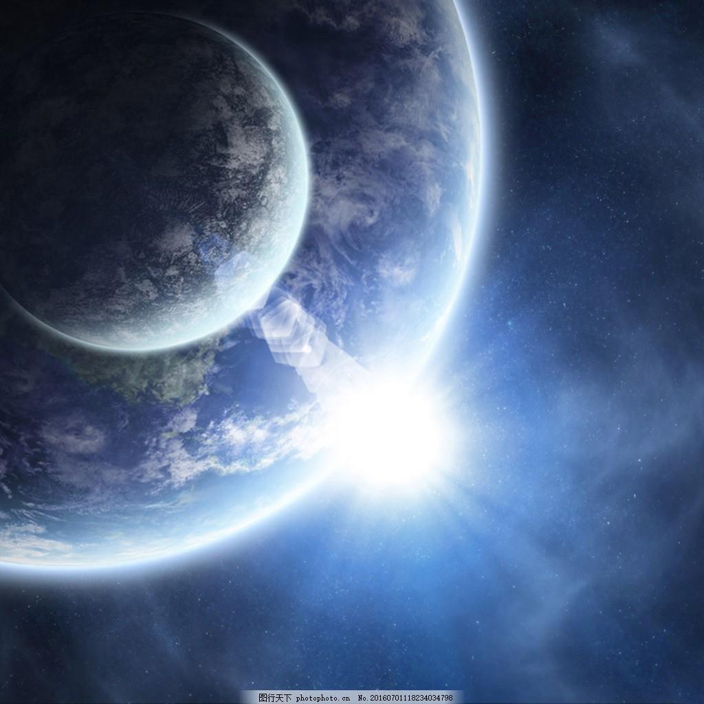 蓝色璀璨星空背景高清免费下载 背景 底纹 星空 星云 天空 夜空 光线