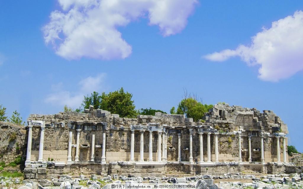 罗马遗址 唯美 风景 风光 旅行 人文 城市 意大利 欧洲 古罗马