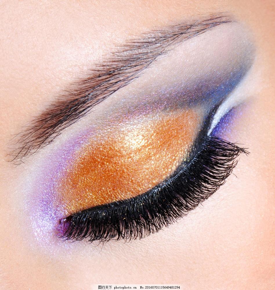 彩妆美女眼睛图片素材 近视眼 眉毛 眼睛 瞳孔 睫毛 美女眼睛 人体