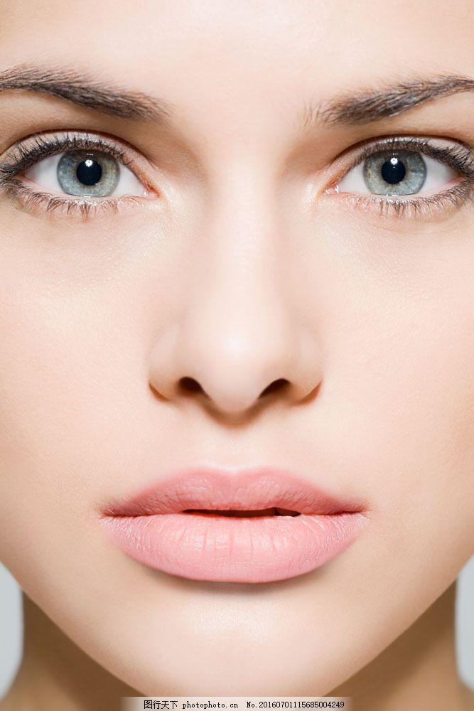 设计图库 高清素材 人物  模特脸部特写图片素材 通透 睫毛 肌肤 肤质