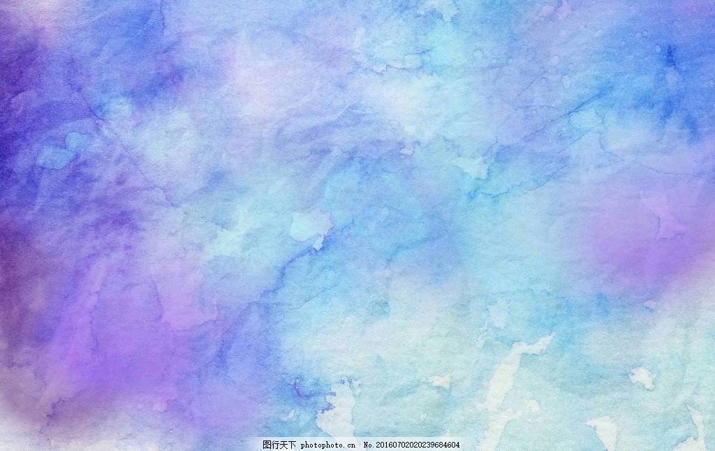 蓝色背景 冷色背景 纹理 水墨 彩色背景 唯美素材 水彩风 五彩斑斓