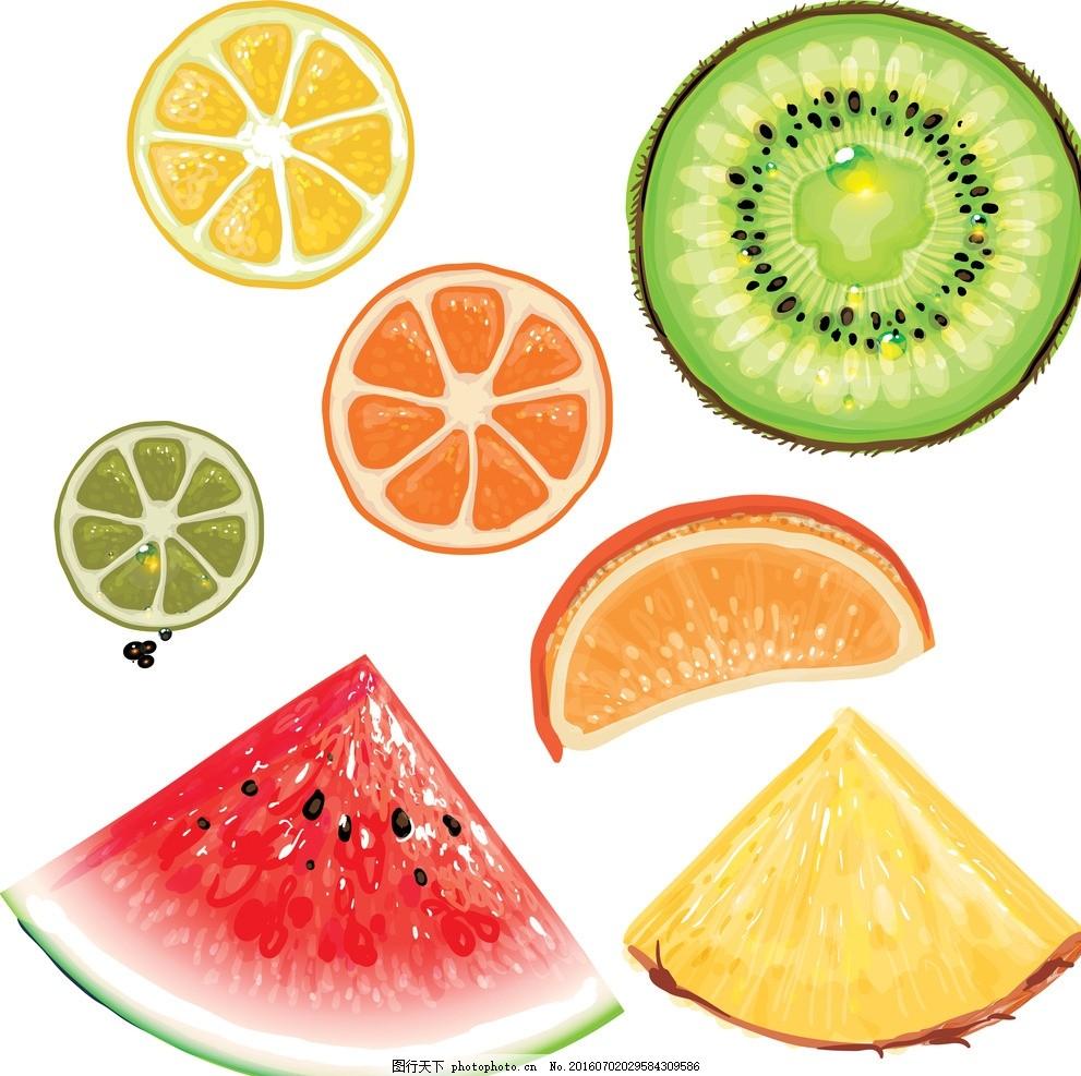橘子 柑橘 甜橙 桔子 橙子图片 卡通橙子素材 卡通橙子 切开的橙子