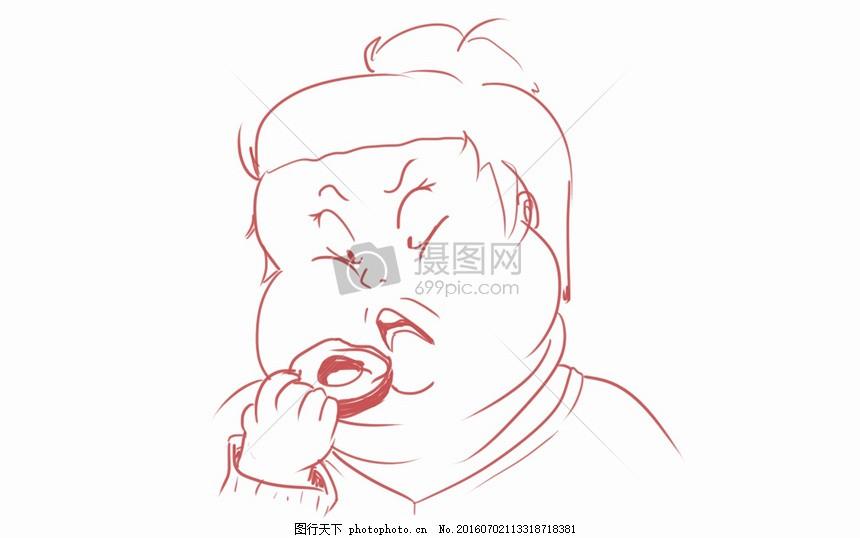 吃甜甜圈的女人