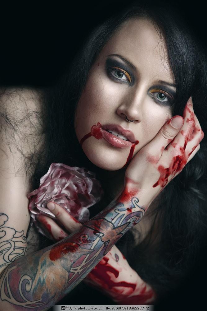 纹身美女图片素材 外国女性 女人 时尚美女 性感美女 美女模特 纹身