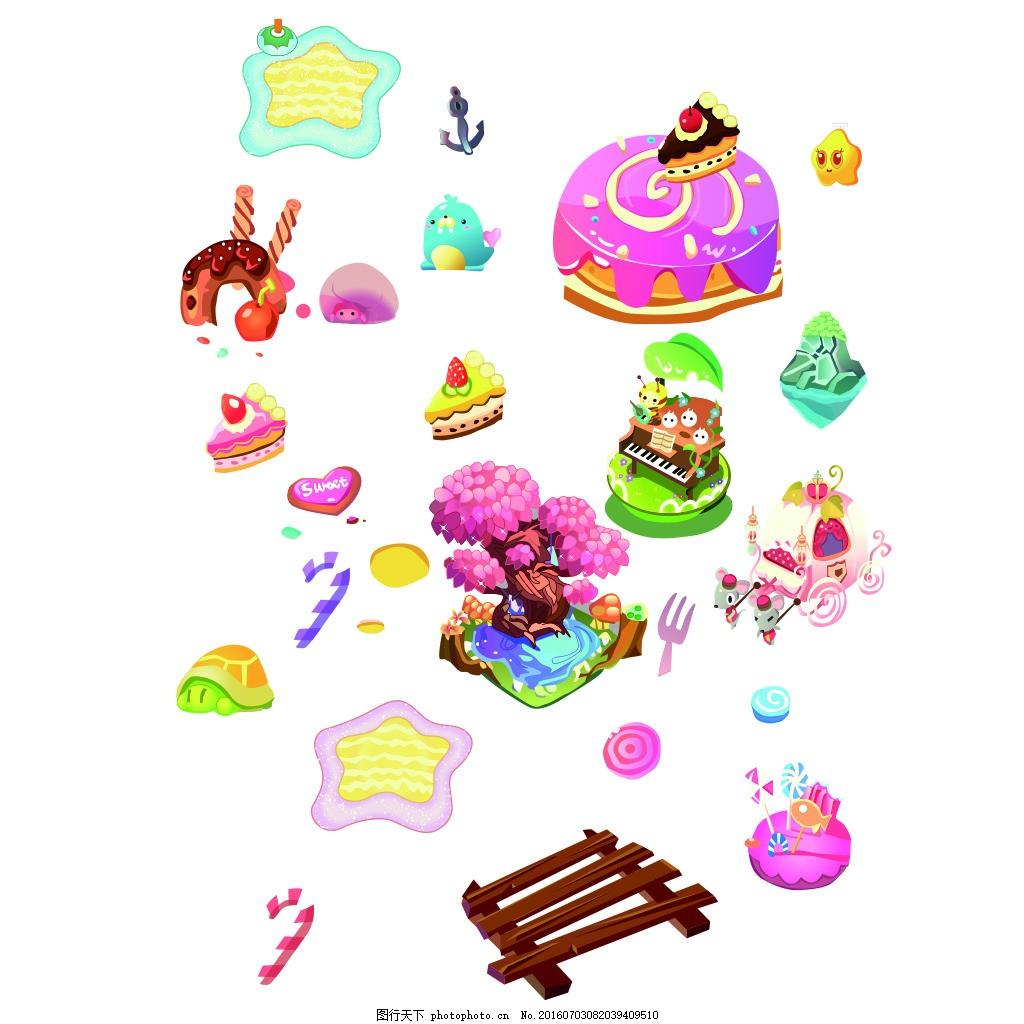 糖果世界卡通素材