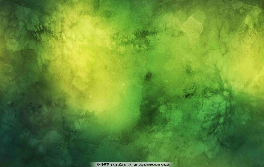 深绿色 发霉 纹理 水墨 背景 banner 彩色背景 彩色 唯美素材 水彩风