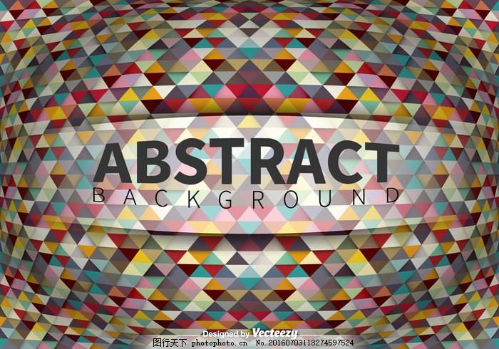 几何抽象背景 几何 抽象 背景 三角形 马赛克 装饰 色彩 纹理 彩色