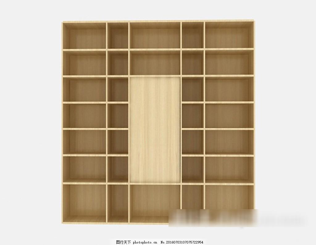 简约木书柜3d模型下载 3d模型 3d模型下载 模型 欧式风格 室内设计
