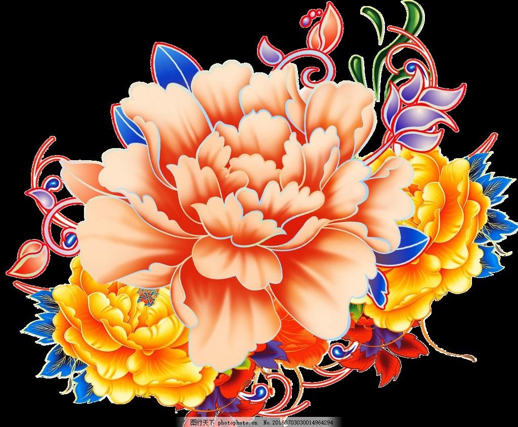 手绘花束 手绘花卉 梦幻花卉 植物花纹 手绘花朵 设计 广告设计 海报