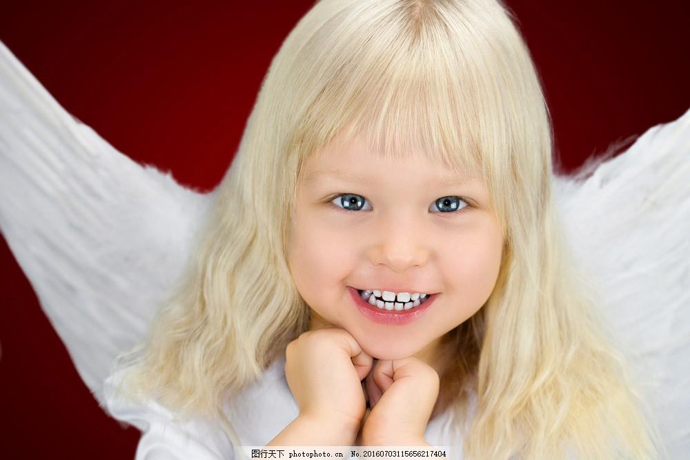 可爱的小女孩天使图片素材 外国儿童 小孩子 小女孩 天使女孩 可爱小