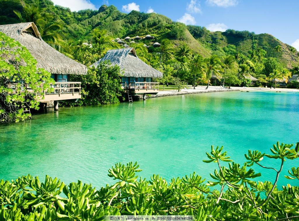 热带海边风景 热带海边风景高清图片下载 巴厘岛 白云 碧海蓝天