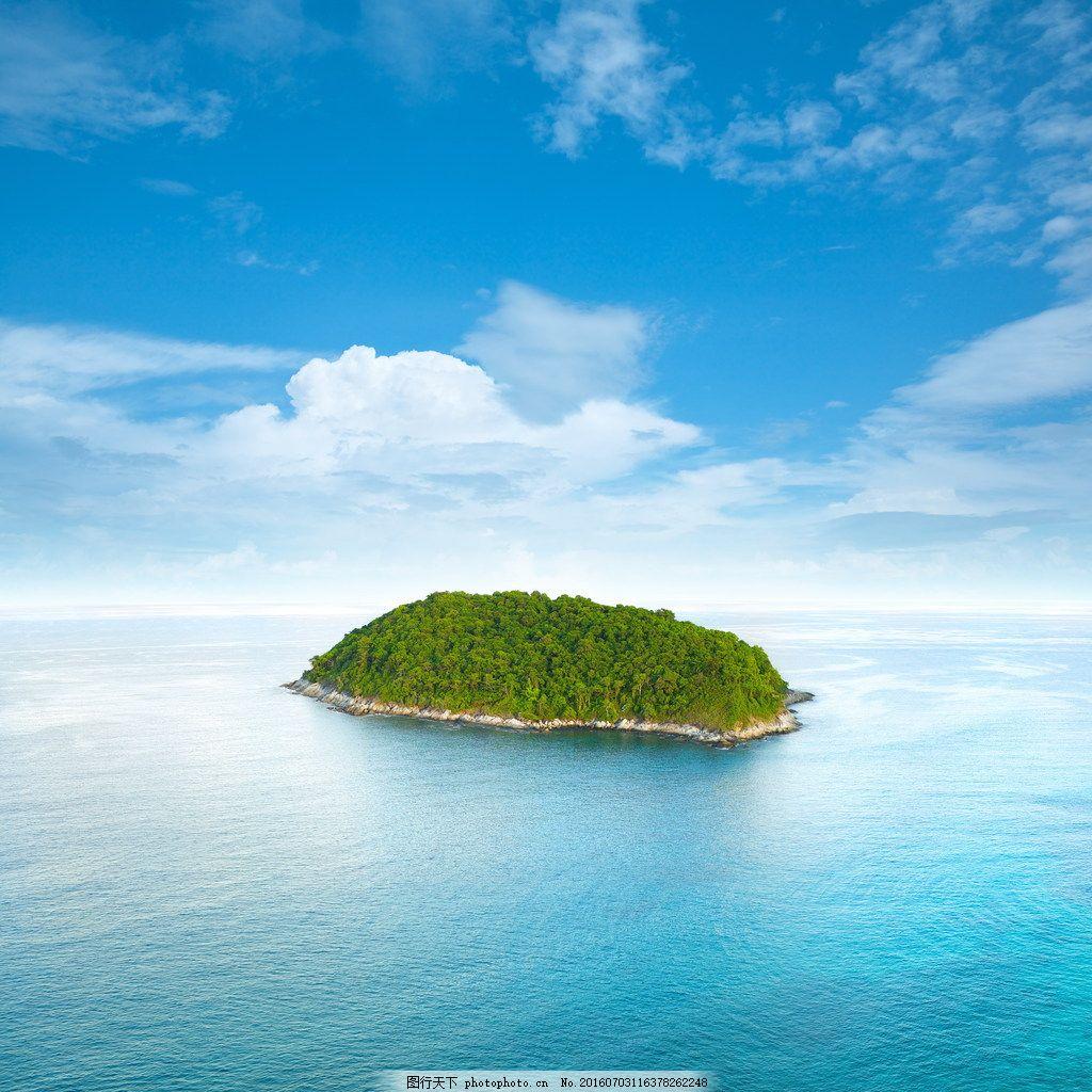 美丽的绿色海岛风景 美丽的绿色海岛风景图片下载 美丽海岛 岛屿