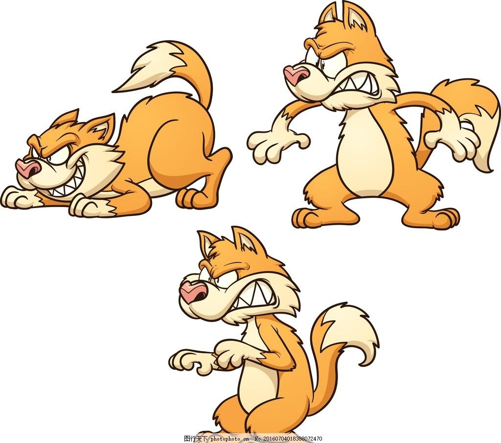 卡通动物 可爱动物 黄鼠狼 卡通黄鼠狼 动漫动画