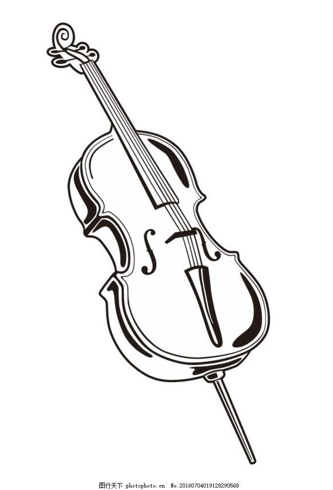 乐器 音乐 演奏器具 简笔画 线条 线描 简画 黑白画 卡通 手绘 简单手