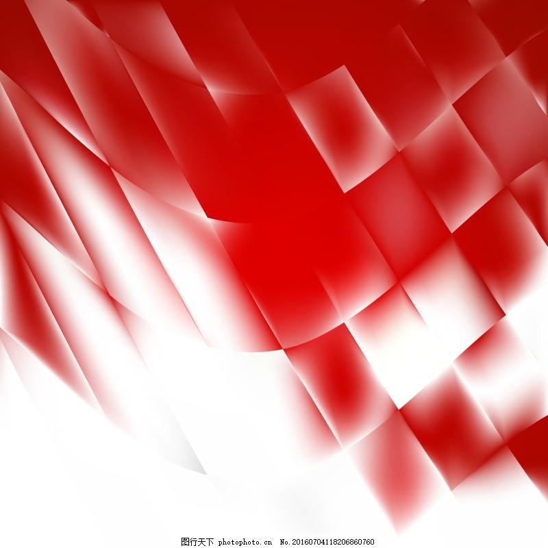 红白手绘唯美壁纸