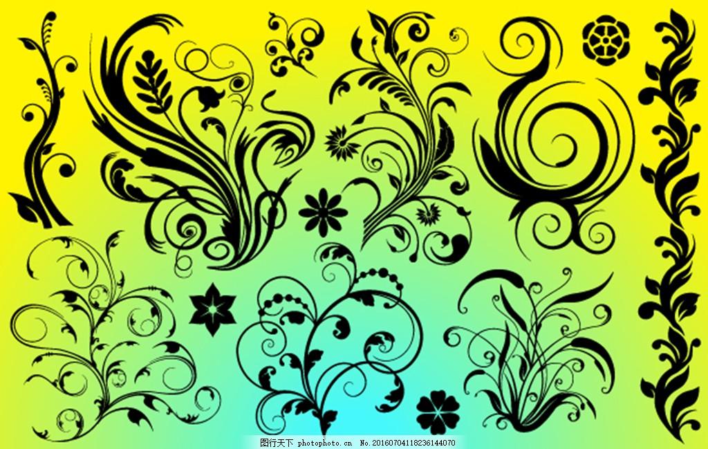 欧式花纹边框设计图片