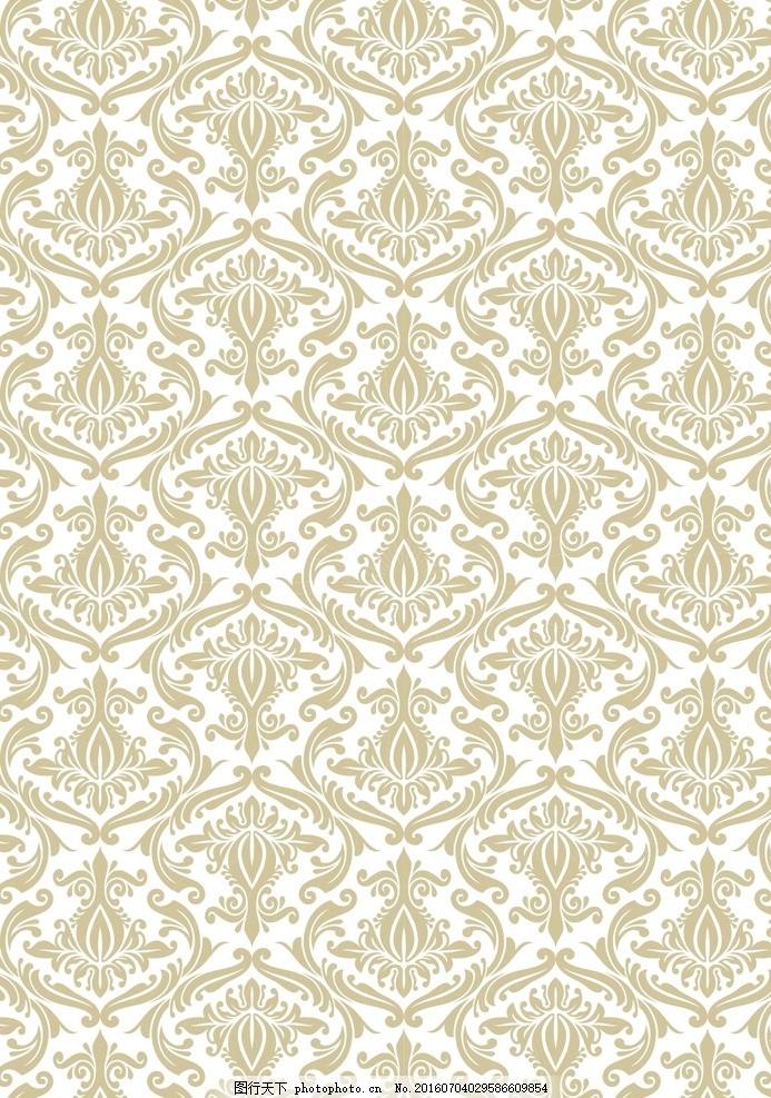 复古花纹背景 欧式花纹花边 边框 底纹 欧式花纹 欧美 复古 古典花纹