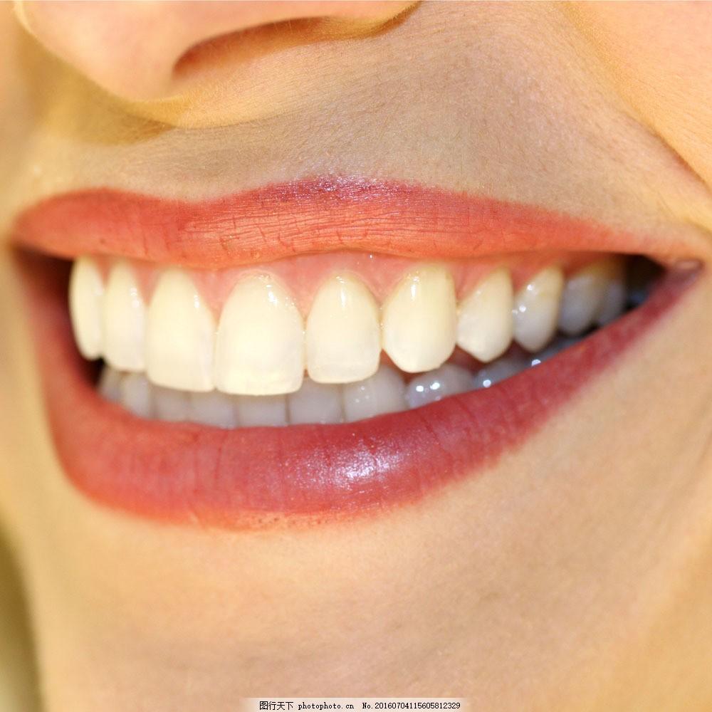 洁白牙齿图片素材 健康 干净 牙齿 健齿 洁白牙齿 咧嘴 微笑 人体器官