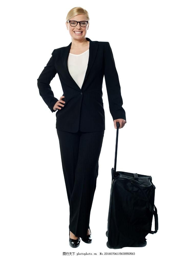 提着行李箱的职业女人图片