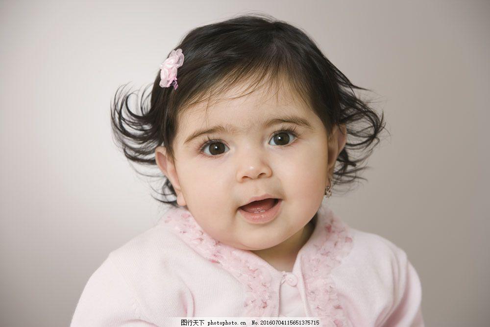 可爱的小女孩图片素材 小孩子 外国儿童 可爱 小女孩 微笑 摄影图