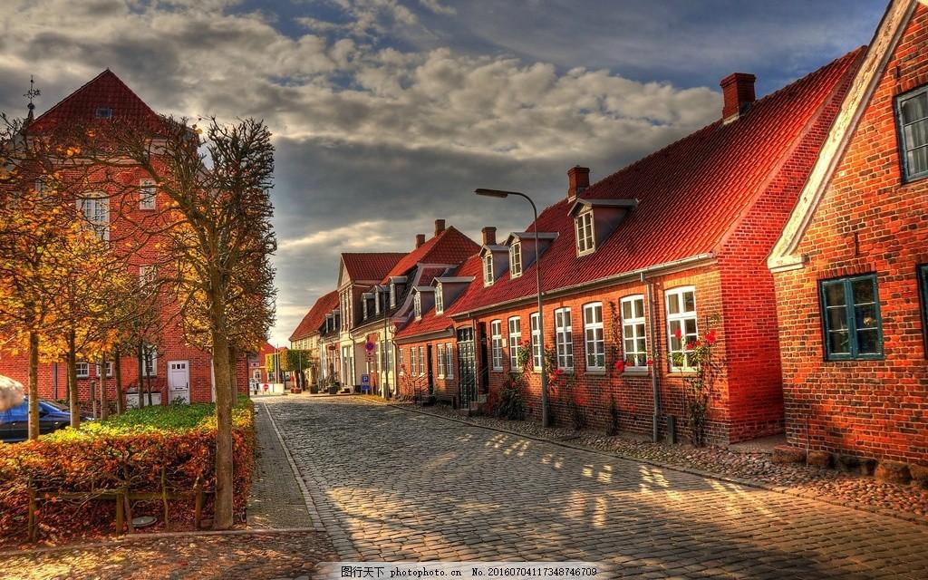 欧洲乡村街道风景图片
