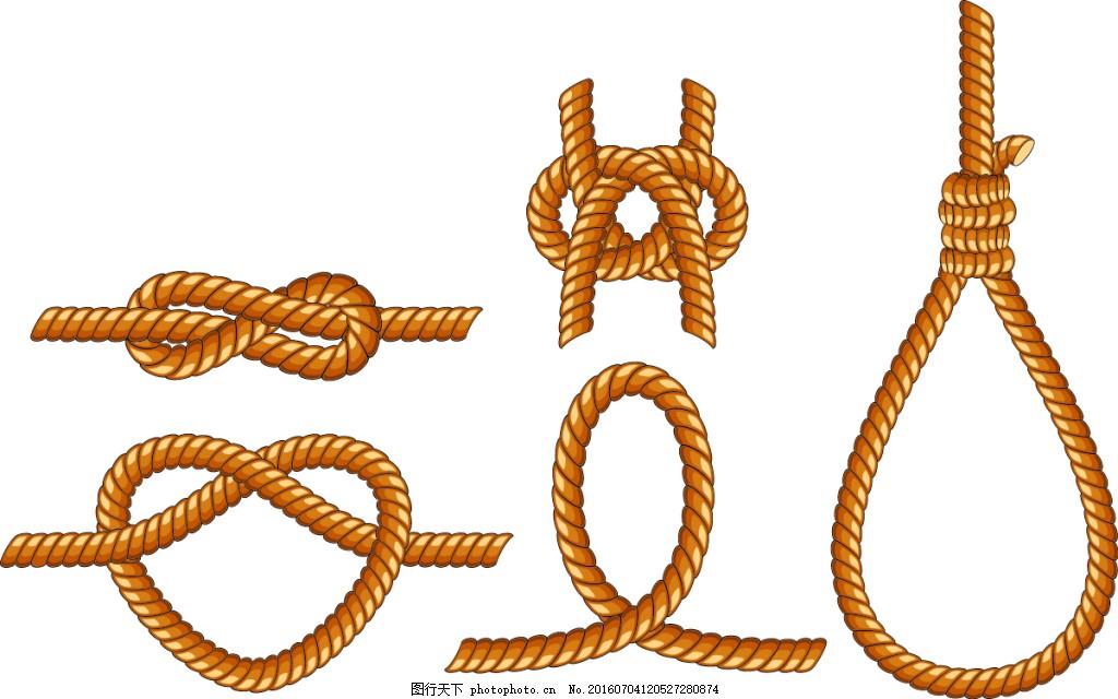 手绘q版绳子贴图