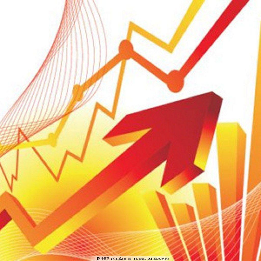 上升的红色财务金融图背景 箭头 经纪人 图表 排行    经济学 财经