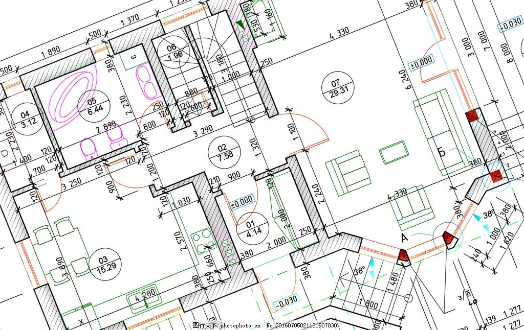 建筑设计 唯美 炫酷 3d 立体 建筑 设计图 蓝图 图纸 设计 3d设计 3d