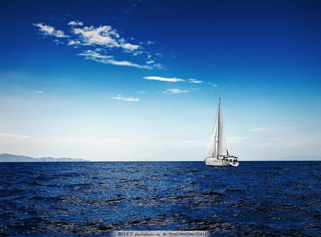 秦皇岛大海 唯美 风景 风光 旅行 自然 海景 帆船 摄影 国内旅游