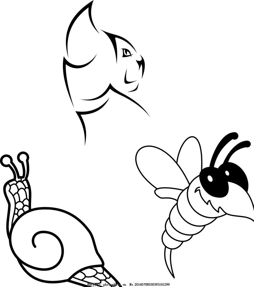 贴纸 纹身刺青图案 精美刺青图案 纹身 纹身贴 刺青 抽象 蜗牛 矢量蜗