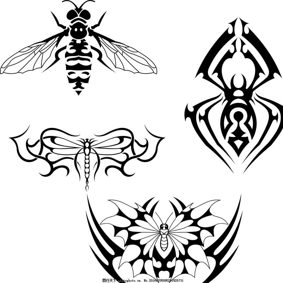三瓣花朵黑白简笔画