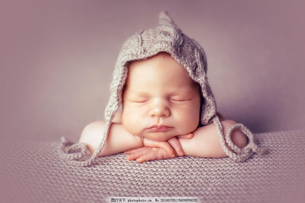 趴着睡觉的婴儿图片素材 婴儿 戴帽子的宝宝 趴着 睡觉 小孩子 婴幼儿