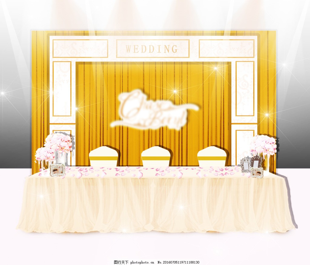签到效果 欧式 婚礼 婚庆 布幔 灯光 舞台 效果 布置 设计 桌花 签到