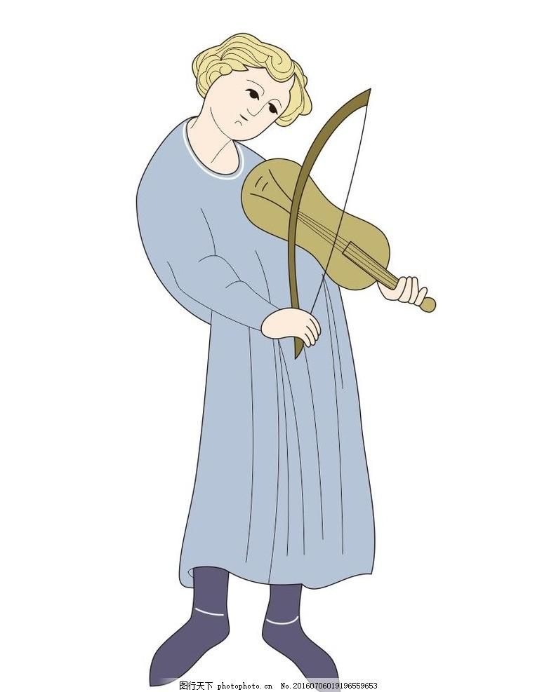 演奏小提琴图片
