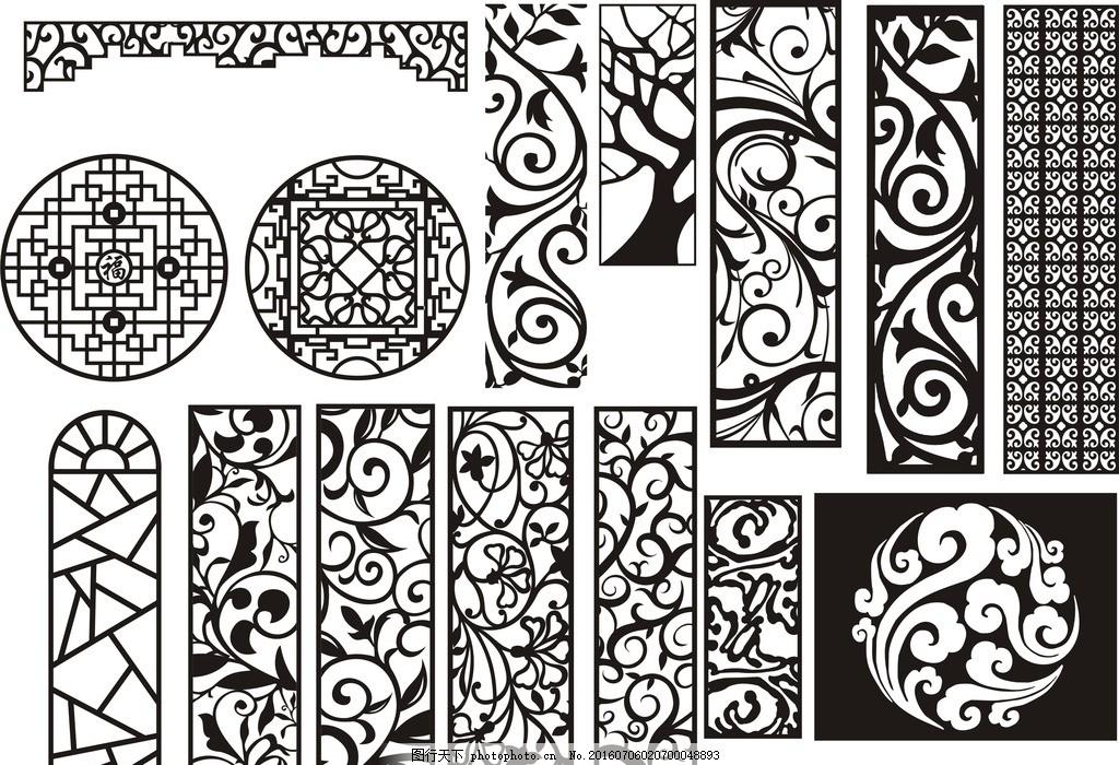 镂空雕刻 木雕镂空 雕刻花纹 中式镂空 雕花隔断 隔断雕花 背景墙图片