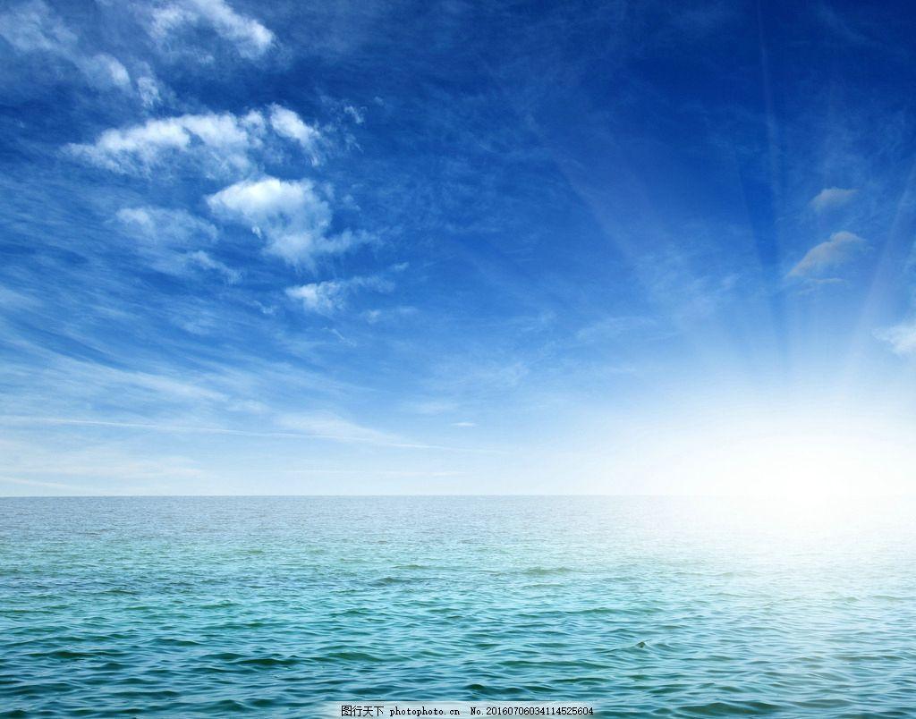 唯美的蓝天大海风景