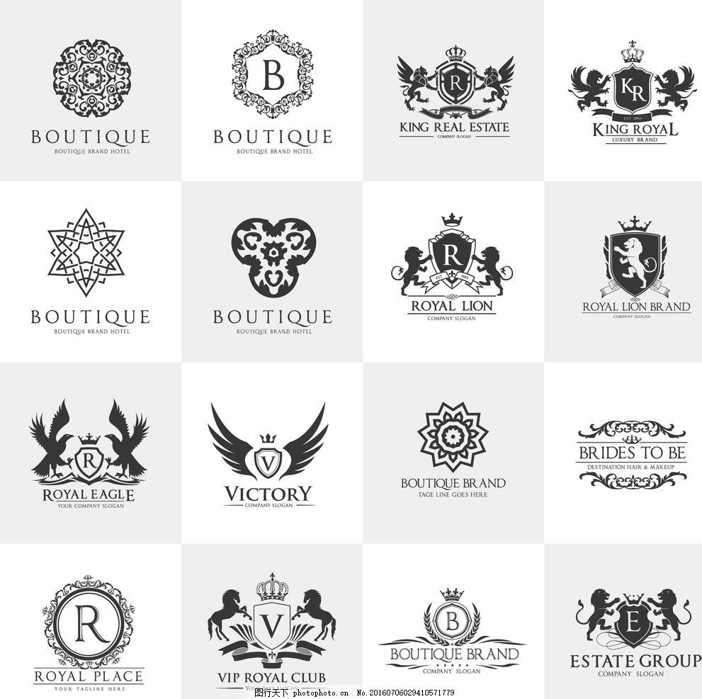 欧式图标 欧式花纹 欧式标志 欧式logo 欧美logo 欧美风格 欧美设计