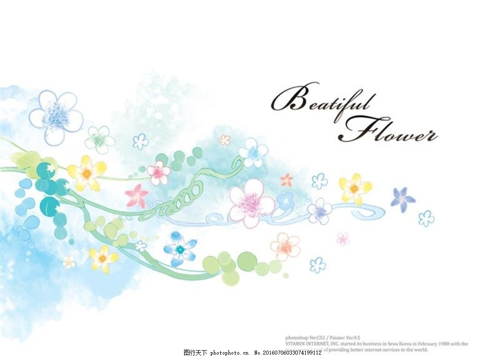 藤蔓背景 水彩鲜花 插画设计 唯美蔓藤 花卉枝蔓 水彩藤蔓 花藤花枝