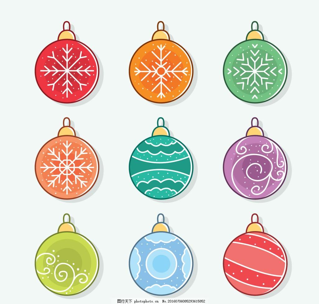 手绘圣诞装饰球