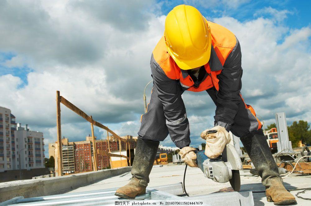 建筑工人 建筑工人图片素材 男性 职业 城市建筑 安全帽 商务人士