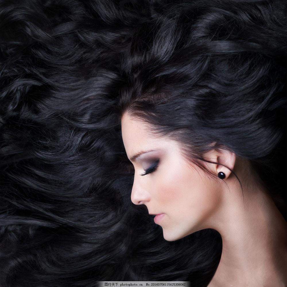 性感美发模特美女图片素材 外国女性 女人 时尚美女 性感美女 美女