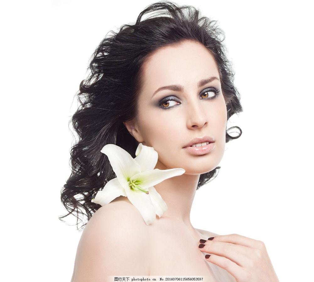 肌肤美白的美女图片素材 女性 女人 时尚美女 性感美女 美女模特 美容