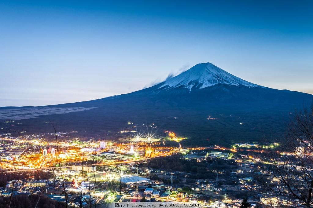 日本富士山风景图片