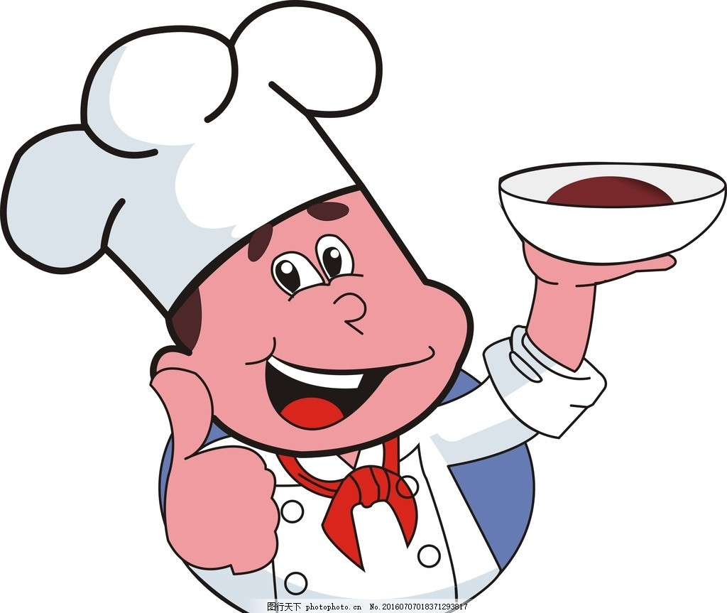 小厨师简笔画步骤