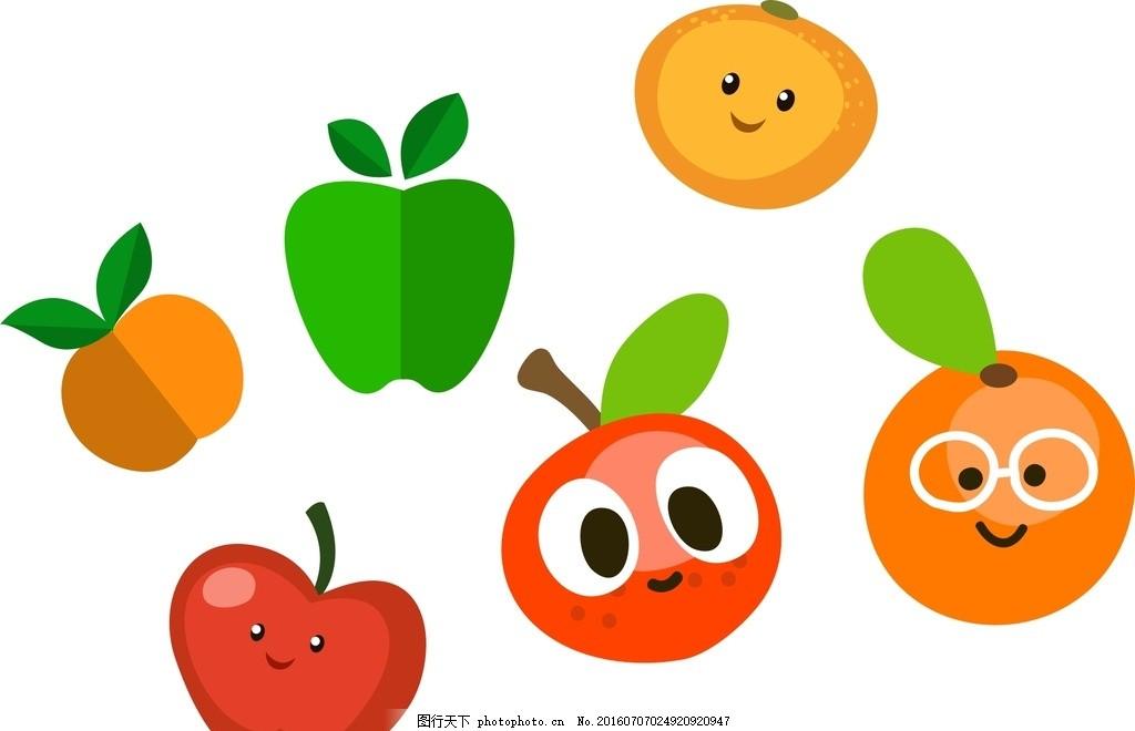手绘水果标签背景图