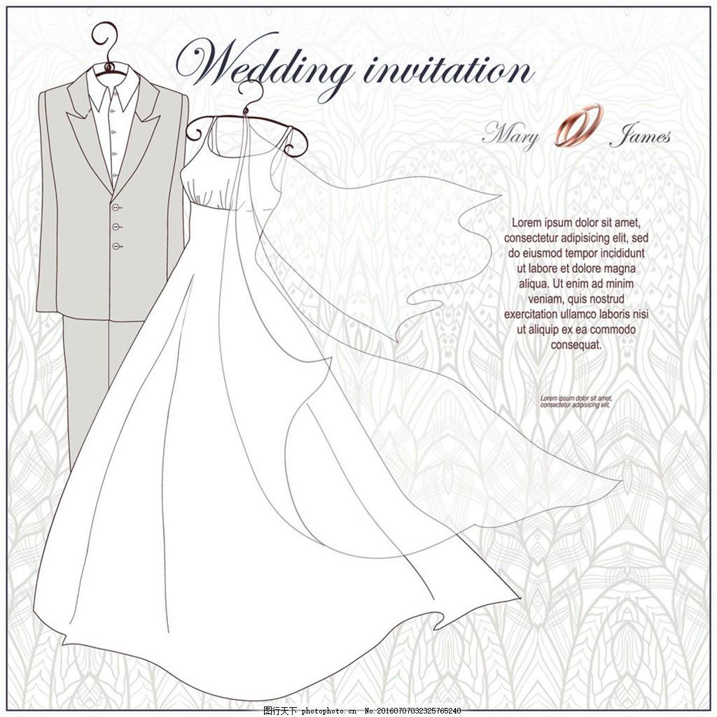 新娘婚纱和新郎礼服图片