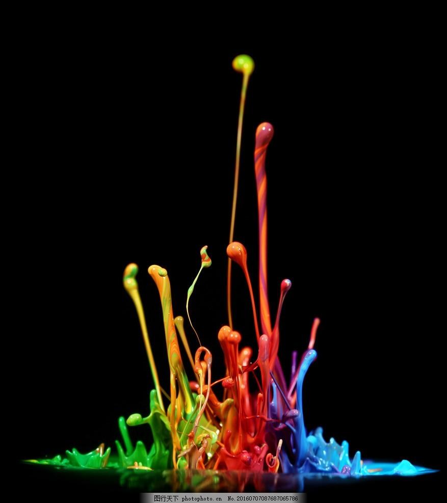彩色 动感颜料 动感油漆 喷溅 3d油漆喷溅 底纹背景 背景图片素材