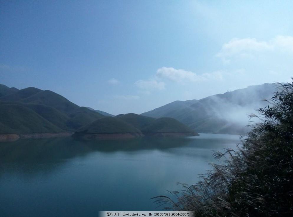桂林天湖 广西桂林天湖 美丽天湖 风景 美丽风景区 拍摄实景 蓝天高山