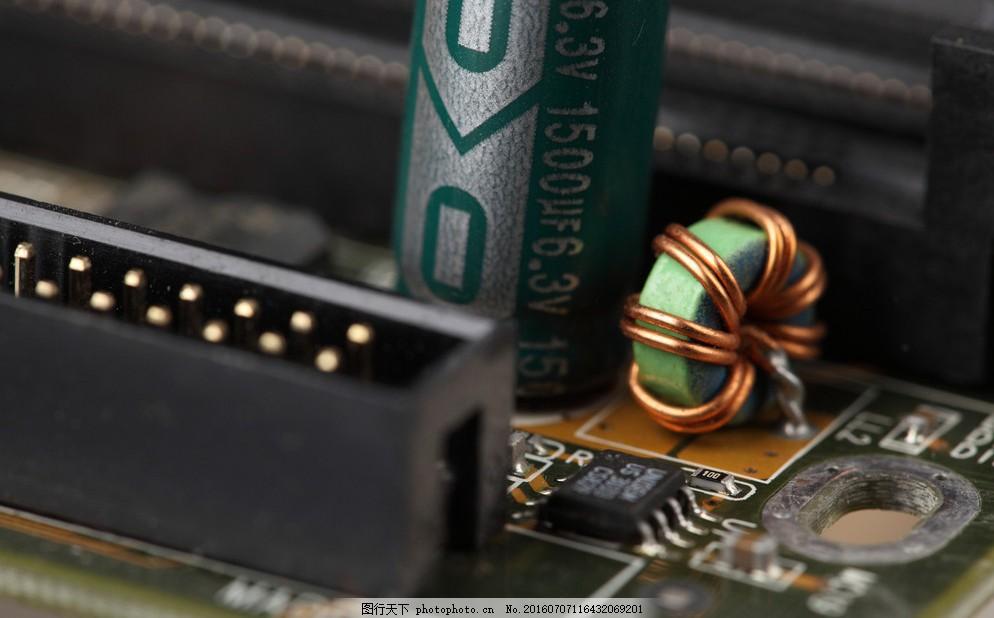 电路板 电子元件 工业生产 现代科技 摄影 300dpi jpg